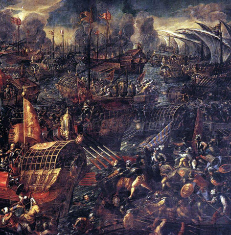 Andrea Vicentino Battle of Lepanto (detail) - Hand Painted Oil Painting
