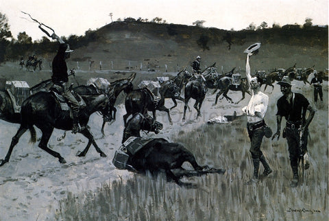 Frederic Remington Battle of San Juan - Hand Painted Oil Painting