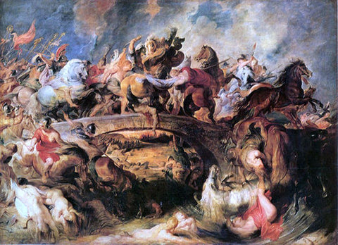 Peter Paul Rubens Battle of the Amazons - Hand Painted Oil Painting