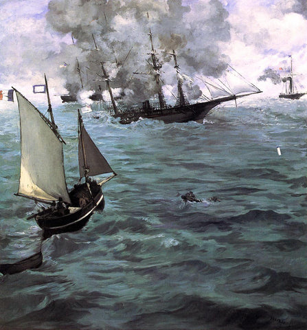 Edouard Manet Battle of the 'Kearsarge' and the 'Alabama' - Hand Painted Oil Painting
