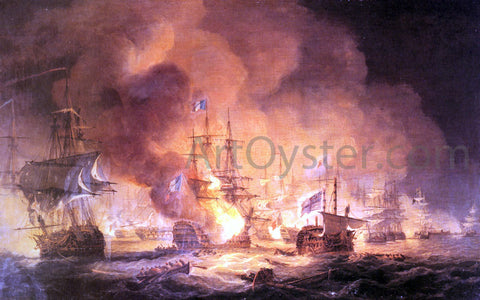 Thomas Luny Battle of the Nile, August 1st 1798 at 10 pm - Hand Painted Oil Painting
