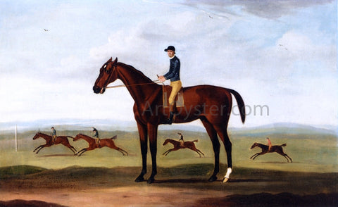 Francis Sartorius Bay Melton with Jockey Up, Bay Melton Beating King Herod, Turf and Ascham in a Sweepstake Race Beyond - Hand Painted Oil Painting