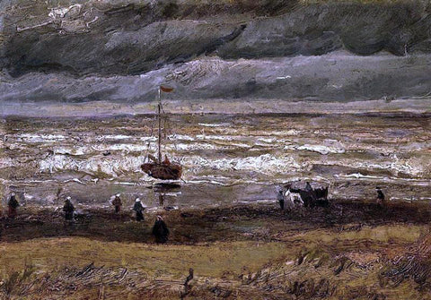 Vincent Van Gogh Beach at Scheveningen in Stormy Weather - Hand Painted Oil Painting