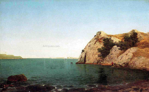 John Frederick Kensett Beacon Rock, Newport Harbor - Hand Painted Oil Painting
