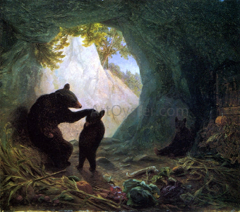 William Holbrook Beard Bear and Cubs - Hand Painted Oil Painting