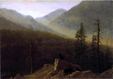 Albert Bierstadt Bears in the Wilderness - Hand Painted Oil Painting