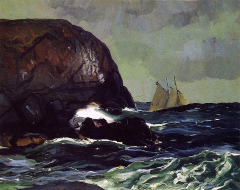 George Wesley Bellows Beating out to Sea - Hand Painted Oil Painting
