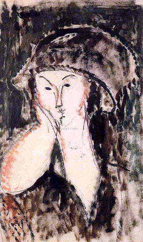 Amedeo Modigliani Beatrice Hastings Leaning on Her Elbow - Hand Painted Oil Painting