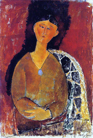 Amedeo Modigliani Beatrice Hastings, Seated - Hand Painted Oil Painting