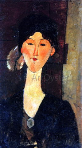 Amedeo Modigliani Beatrice Hastings Standing by a Door - Hand Painted Oil Painting