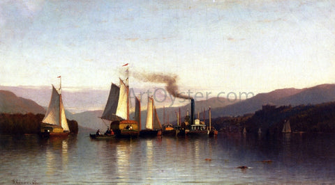 Samuel Colman Becalmed in the Highlands - Hand Painted Oil Painting