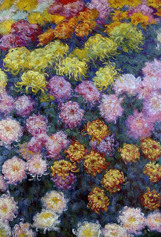 Claude Oscar Monet Bed of Chrysanthemums - Hand Painted Oil Painting