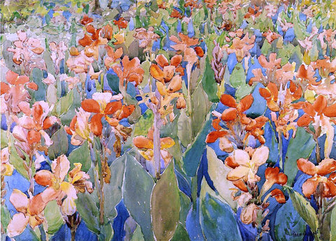 Maurice Prendergast Bed of Flowers (also known as Cannas or The Garden) - Hand Painted Oil Painting
