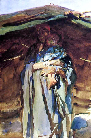 John Singer Sargent Bedouin Mother - Hand Painted Oil Painting