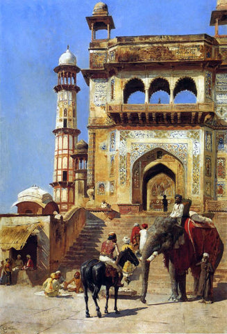 Edwin Lord Weeks Before a Mosque - Hand Painted Oil Painting