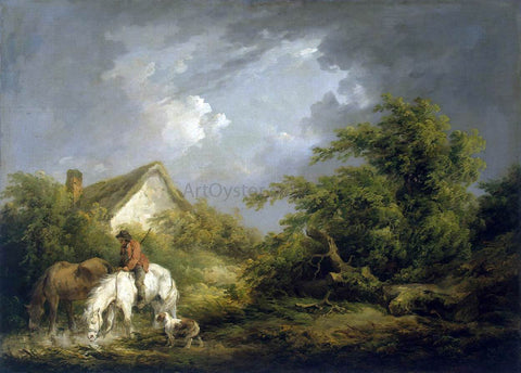 George Morland Before a Thunderstorm - Hand Painted Oil Painting