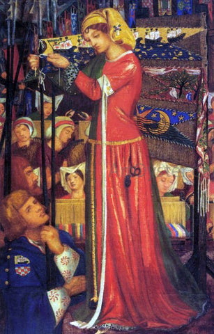 Dante Gabriel Rossetti Before the Battle - Hand Painted Oil Painting