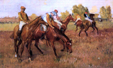 Edgar Degas Before the Race - Hand Painted Oil Painting