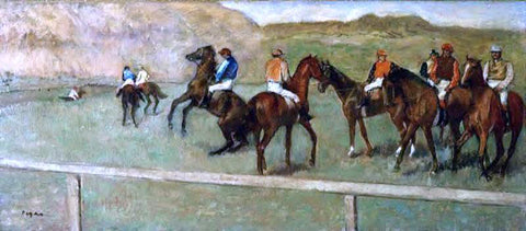 Edgar Degas Before the Start - Hand Painted Oil Painting