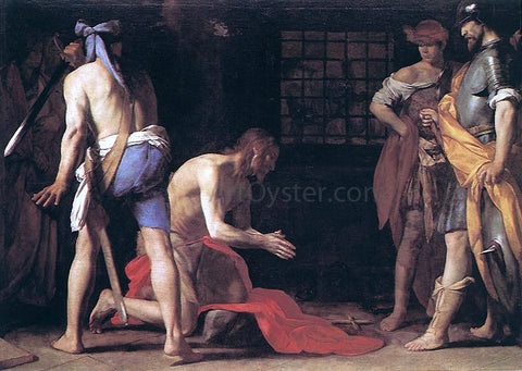 Massimo Stanzione Beheading of St John the Baptist - Hand Painted Oil Painting