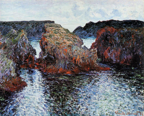 Claude Oscar Monet Belle-Ile, Rocks at Port-Goulphar - Hand Painted Oil Painting