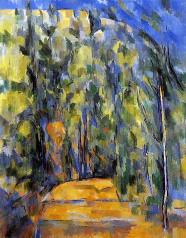 Paul Cezanne Bend in the Forest Road - Hand Painted Oil Painting