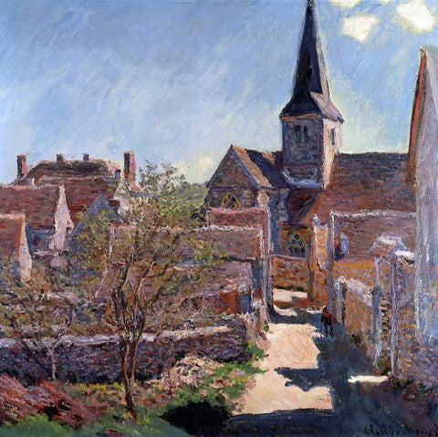 Claude Oscar Monet Bennecourt - Hand Painted Oil Painting