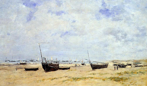 Eugene-Louis Boudin Berck, The Beach at Low Tide - Hand Painted Oil Painting