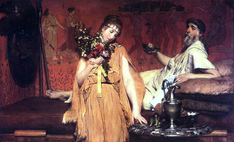 Sir Lawrence Alma-Tadema Between Hope and Fear - Hand Painted Oil Painting
