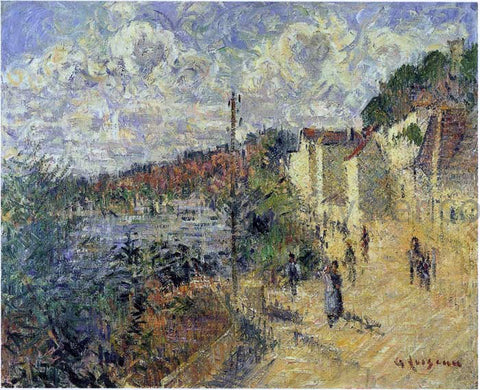 Gustave Loiseau Beynac Quay at Bordeaux - Hand Painted Oil Painting