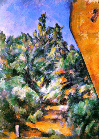 Paul Cezanne Bibemus - the Red Rock - Hand Painted Oil Painting