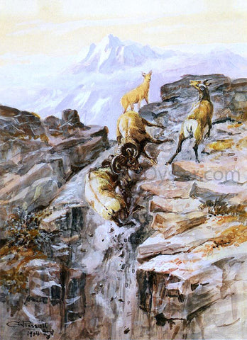 Charles Marion Russell Big Horn Sheep - Hand Painted Oil Painting