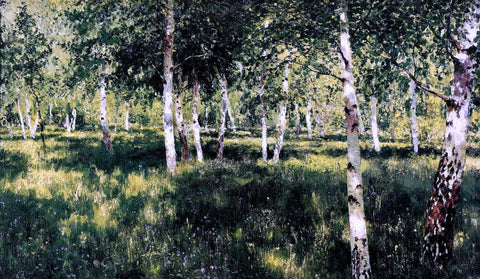 Isaac Ilich Levitan Birch Grove - Hand Painted Oil Painting