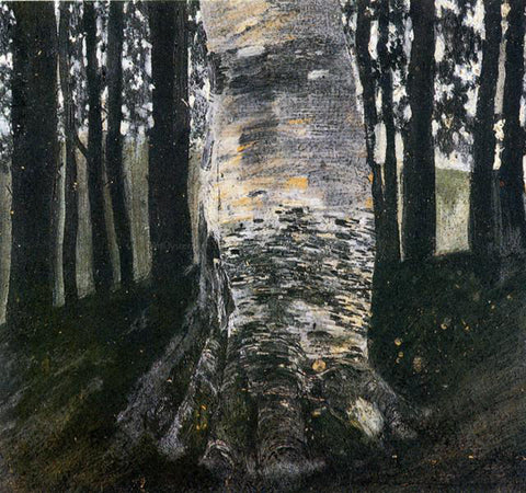 Gustav Klimt Birch in a Forest - Hand Painted Oil Painting