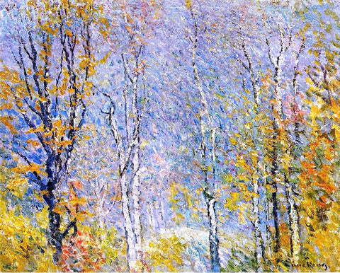 John Joseph Enneking Birches - Hand Painted Oil Painting