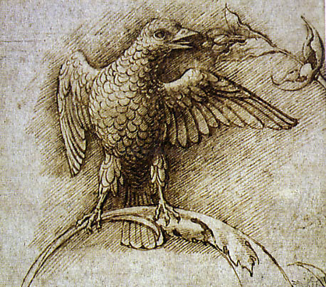 Andrea Mantegna Bird on a Branch - Hand Painted Oil Painting