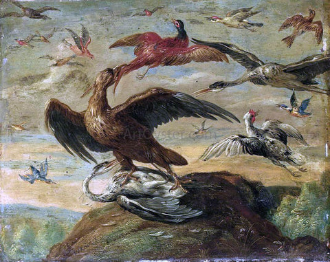 Jan Van I Kessel Birds - Hand Painted Oil Painting