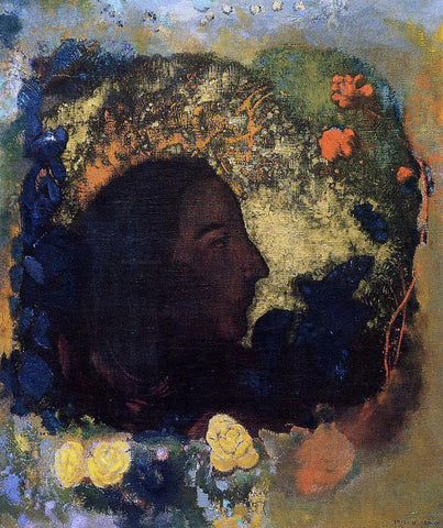 Odilon Redon Black Profile (also known as Gauguin) - Hand Painted Oil Painting