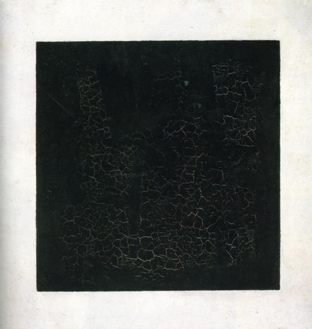Kazimir Malevich Black Suprematistic Square - Hand Painted Oil Painting