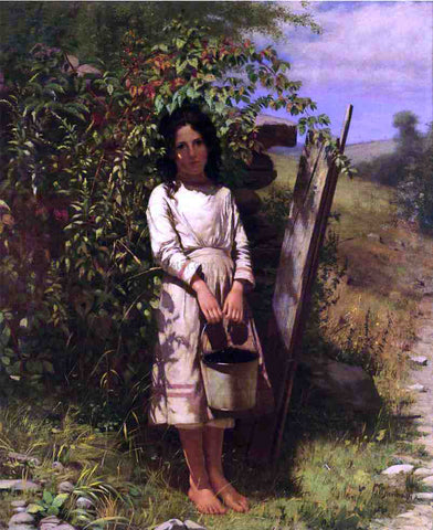 John George Brown Blackberry Picking - Hand Painted Oil Painting