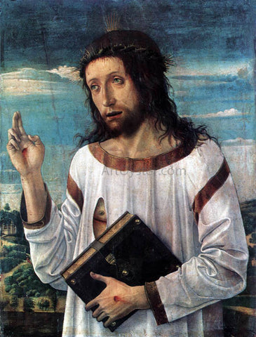 Giovanni Bellini Blessing Christ - Hand Painted Oil Painting