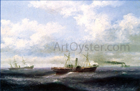 Xanthus Russell Smith Blockade Runner - Hand Painted Oil Painting