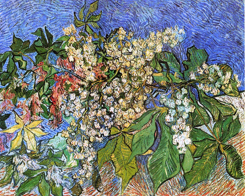 Vincent Van Gogh Blossoming Chestnut Branches - Hand Painted Oil Painting
