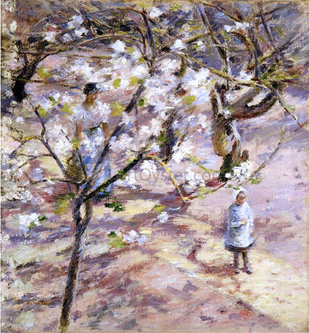 Theodore Robinson Blossoms at Giverny - Hand Painted Oil Painting