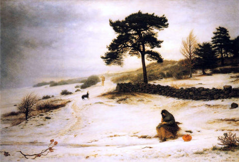 Sir Everett Millais Blow, Blow Thou Winter Wind - Hand Painted Oil Painting