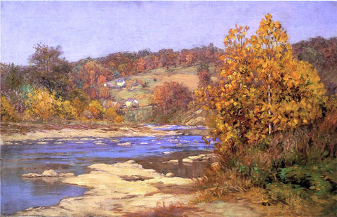 John Ottis Adams Blue and Gold - Hand Painted Oil Painting