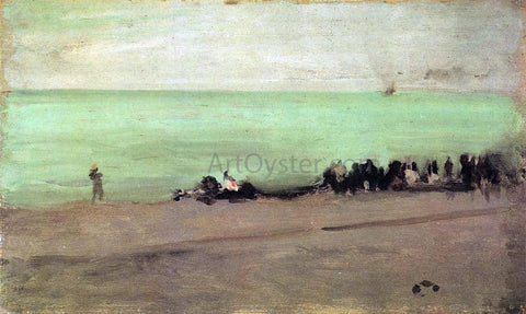 James McNeill Whistler Blue and Silver: Boat Entering Pourville - Hand Painted Oil Painting
