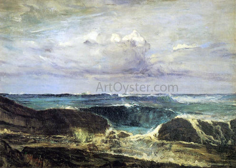 James McNeill Whistler Blue and Silver: The Blue Wave, Biarritz - Hand Painted Oil Painting