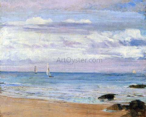 James McNeill Whistler Blue and Silver: Trouville - Hand Painted Oil Painting