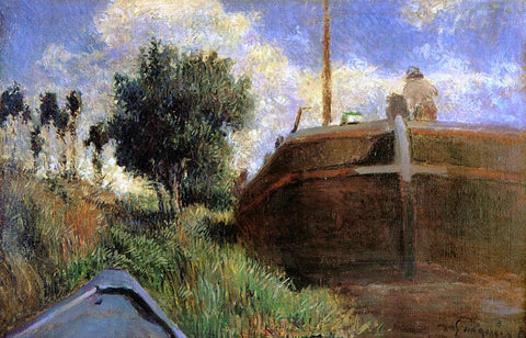 Paul Gauguin Blue Barge - Hand Painted Oil Painting